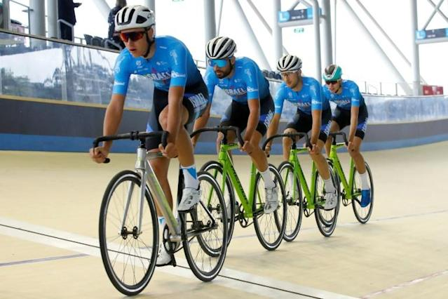 The Israel Start-Up Nation cycling team will be the first Israeli outfit to take part in the Tour de France (AFP Photo/JACK GUEZ)