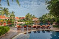 """<p>Stay at <a rel=""""nofollow noopener"""" href=""""http://www.santiburisamui.com/"""" target=""""_blank"""" data-ylk=""""slk:Santiburi Beach Resort & Spa"""" class=""""link rapid-noclick-resp"""">Santiburi Beach Resort & Spa</a>, and learn the ancient techniques of Thai massage and Tibetan healing that are designed to relieve stress and promote wellbeing. The 90-minute, Thai massage lesson includes an overview of the history and benefits of Thai massage, as well as basic techniques. From £43 for two.<br><i>[Photo: Santiburi Beach Resort & Spa]</i> </p>"""