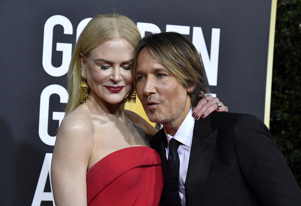 BEVERLY HILLS, CALIFORNIA - JANUARY 05: (L-R) Nicole Kidman and Keith Urban attend the 77th Annual Golden Globe Awards at The Beverly Hilton Hotel on January 05, 2020 in Beverly Hills, California. (Photo by Frazer Harrison/Getty Images)