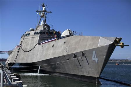 The United States littoral combat ship USS Coronado is shown during a media tour in Coronado