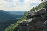 """<p>The Berea College Forest holds what's known as <a href=""""https://www.tripadvisor.com/Attraction_Review-g39187-d2356534-Reviews-Berea_Pinnacles-Berea_Kentucky.html"""" rel=""""nofollow noopener"""" target=""""_blank"""" data-ylk=""""slk:""""The Pinnacles,"""""""" class=""""link rapid-noclick-resp"""">""""The Pinnacles,""""</a> a scenic area showcasing seven miles of hiking and running trails. Visit Indian Fort Lookout for some of the most spectacular views in Kentucky.</p><p><br><a class=""""link rapid-noclick-resp"""" href=""""https://go.redirectingat.com?id=74968X1596630&url=https%3A%2F%2Fwww.tripadvisor.com%2FAttraction_Review-g39187-d2356534-Reviews-Berea_Pinnacles-Berea_Kentucky.html&sref=https%3A%2F%2Fwww.countryliving.com%2Flife%2Ftravel%2Fg24487731%2Fbest-hikes-in-the-us%2F"""" rel=""""nofollow noopener"""" target=""""_blank"""" data-ylk=""""slk:PLAN YOUR HIKE"""">PLAN YOUR HIKE</a></p>"""
