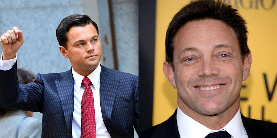 <p>DiCaprio played real-life Wall Street mogul Jordan Belfort in the 2013 film <em>Wolf of Wall Street. </em>Same crimes, different looks. </p>