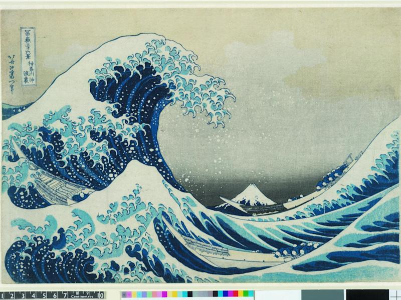 Hokusai's 'Under the wave off Kanagawa' (The Great Wave) from 'Thirty-six Views of Mt Fuji', colour woodblock, 1831: British Museum