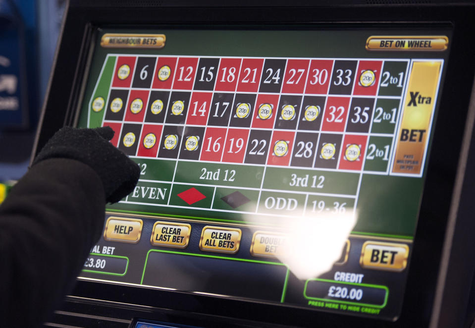 Fixed-odds betting terminals such as this roulette game could be subject to a maximum £30 stake (PA)