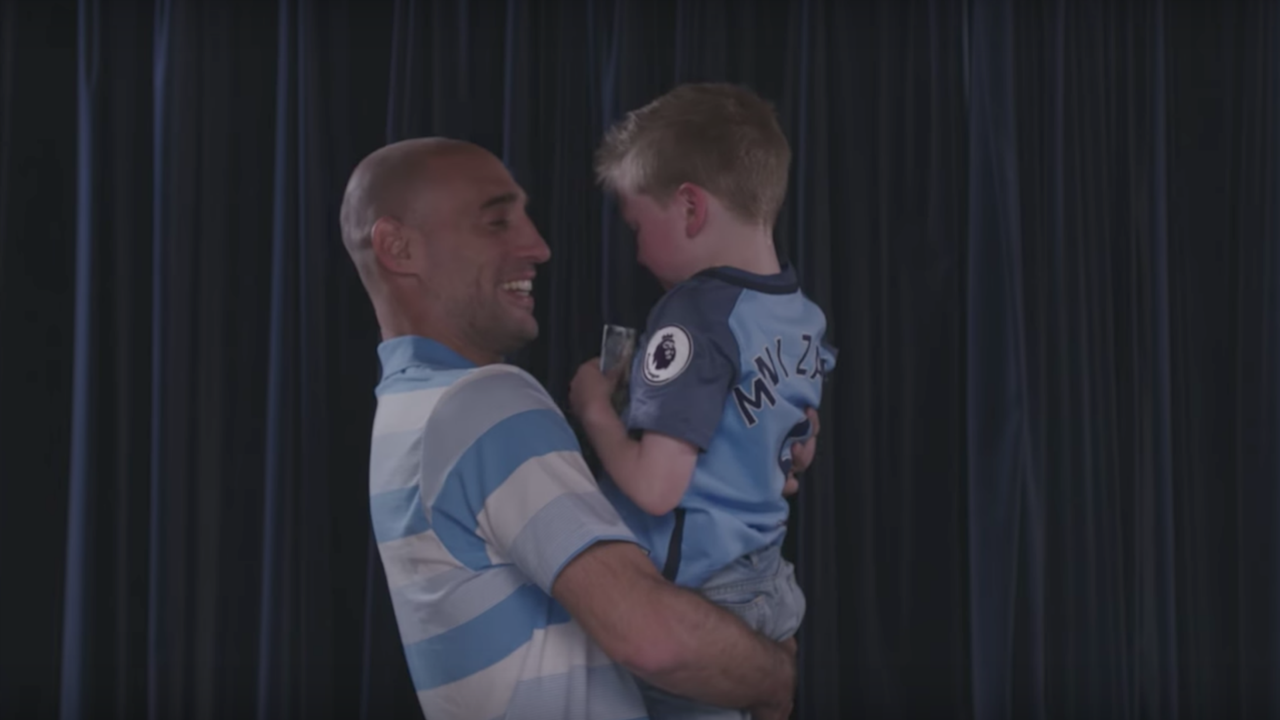 The right-back, who has now officially joined West Ham, took time out to say a very personal goodbye to some of his biggest fans at the Etihad Stadium