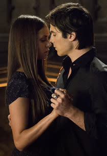 Nina Dobrev, Ian Somerhalder | Photo Credits: Bob Mahoney/The CW