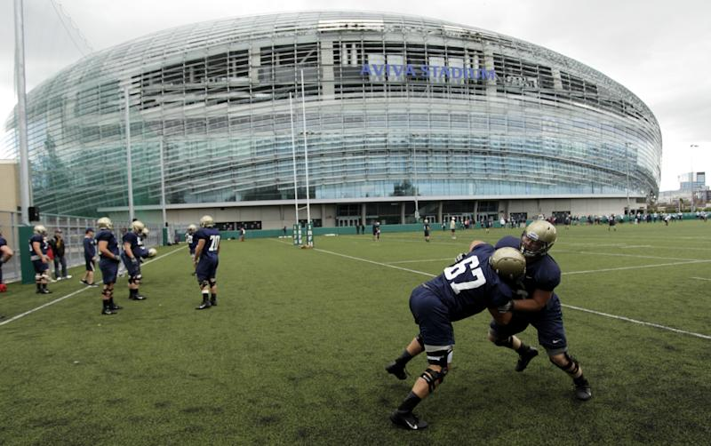 Notre Dame-Navy football opener moved from Ireland to U.S