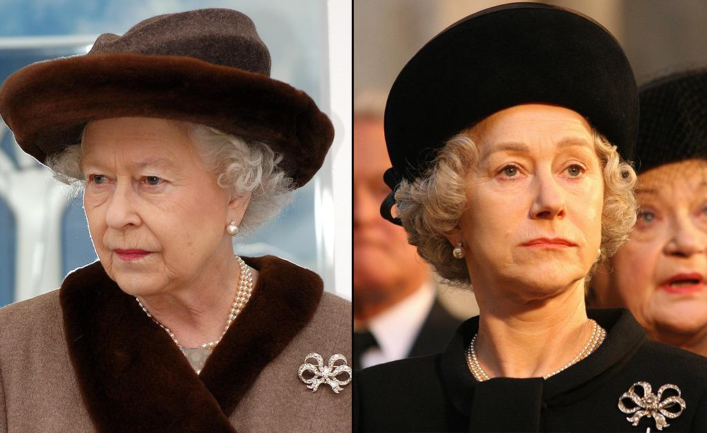 "ELIZABETH II -- Queen of England  Played by: <a href=""http://movies.yahoo.com/movie/contributor/1800011130"">Helen Mirren</a> in <a href=""http://movies.yahoo.com/movie/1809426253/info"">The Queen</a> (2006)    Mirren has a lot of practice playing a British monarch. She played Queen Charlotte in ""<a href=""http://movies.yahoo.com/movie/1800235440/info"">The Madness of King George</a>"" and the first Queen Elizabeth in the 2005 TV miniseries ""Elizabeth I."" All that practice paid off: she won an Oscar for her performance in this movie."