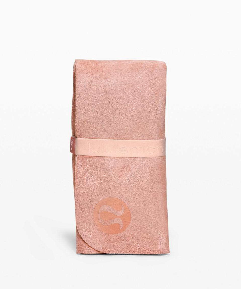 """<h3>Lululemon Carry Onwards Mat<br></h3><br><strong>Best For: Anywhere</strong> <strong>Yoga</strong><br>You already love the leggings — and turns out, Lululemon's mats are also pretty legit. This foldable mat is made from sustainably-sourced rubber that is FSC (Forest Stewardship Council) certified.<br><br><strong>The Hype: </strong>3.8 out of 5 stars and 29 reviews on <a href=""""https://shop.lululemon.com/p/yoga-accessories/Carry-Onwards-Mat-FSC/_/prod9600665"""" rel=""""nofollow noopener"""" target=""""_blank"""" data-ylk=""""slk:lululemon"""" class=""""link rapid-noclick-resp"""">lululemon</a><br><br><strong>Yogis Say:</strong> """"This was a surprise gift for my best friend and she loved it! She works out a lot and loves that she can fit it in her gym bag, wash it, and it's not some bulky thing she has to carry around campus."""" — Makayla, Lululemon Reviewer<br><br><strong>lululemon</strong> Carry Onwards Mat Travel, $, available at <a href=""""https://go.skimresources.com/?id=30283X879131&url=https%3A%2F%2Fshop.lululemon.com%2Fp%2Fyoga-accessories%2FCarry-Onwards-Mat-FSC%2F_%2Fprod9600665"""" rel=""""nofollow noopener"""" target=""""_blank"""" data-ylk=""""slk:lululemon"""" class=""""link rapid-noclick-resp"""">lululemon</a>"""