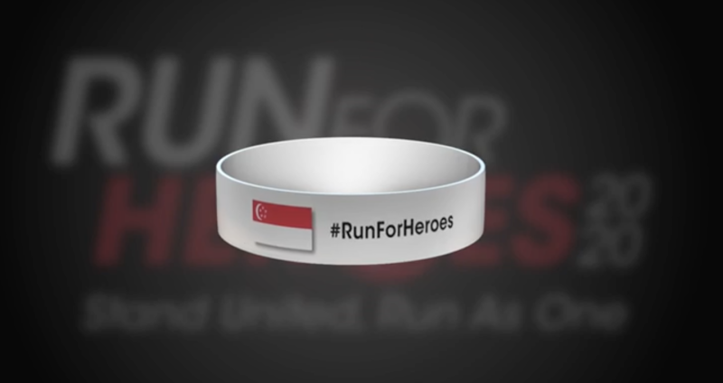 The Run for Heroes wristband for participants and frontline healthcare staff. (PHOTO: Run for Heroes)