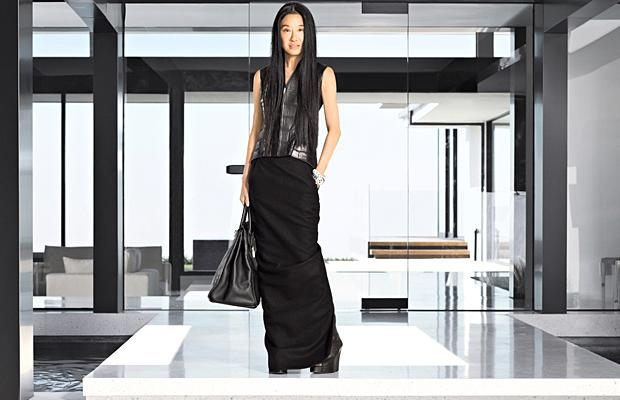 Wang poses in front of her sleek new L.A. home. Douglas Freidman/Harper's Bazaar