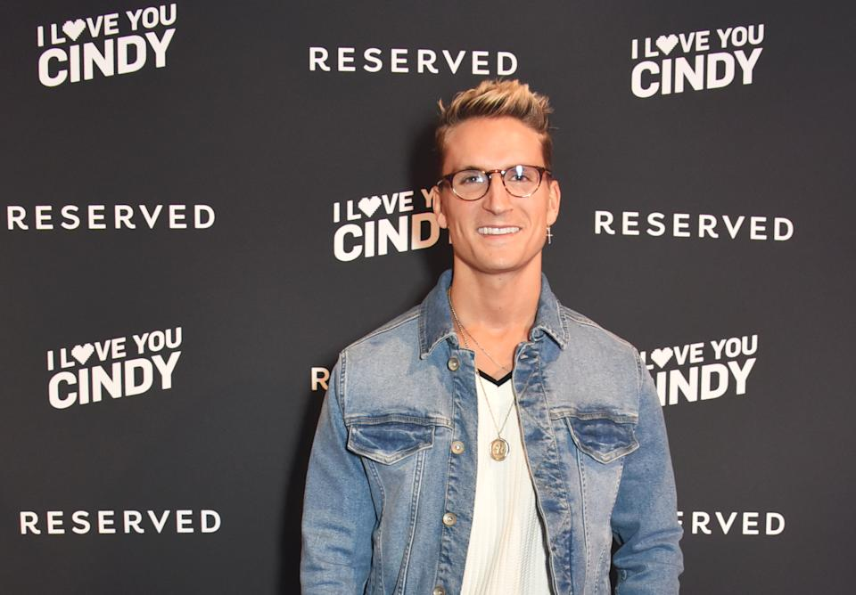 LONDON, ENGLAND - MARCH 16:  Ollie Proudlock attends the Reserved iLoveYouCindy campaign launch event at Kachette on March 16, 2018 in London, England.  (Photo by David M. Benett/Dave Benett/Getty Images for Reserved)