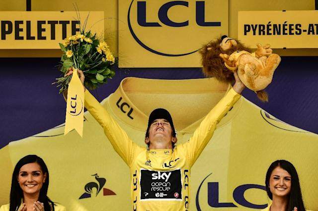 Britain's Geraint Thomas won the 2018 Tour de France (AFP Photo/Philippe LOPEZ)