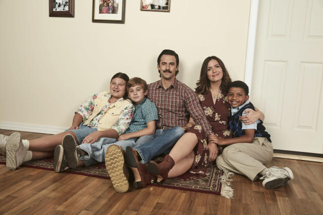 The Pearson family in season 2 of <em>This Is Us</em>. (Photo: Getty Images)