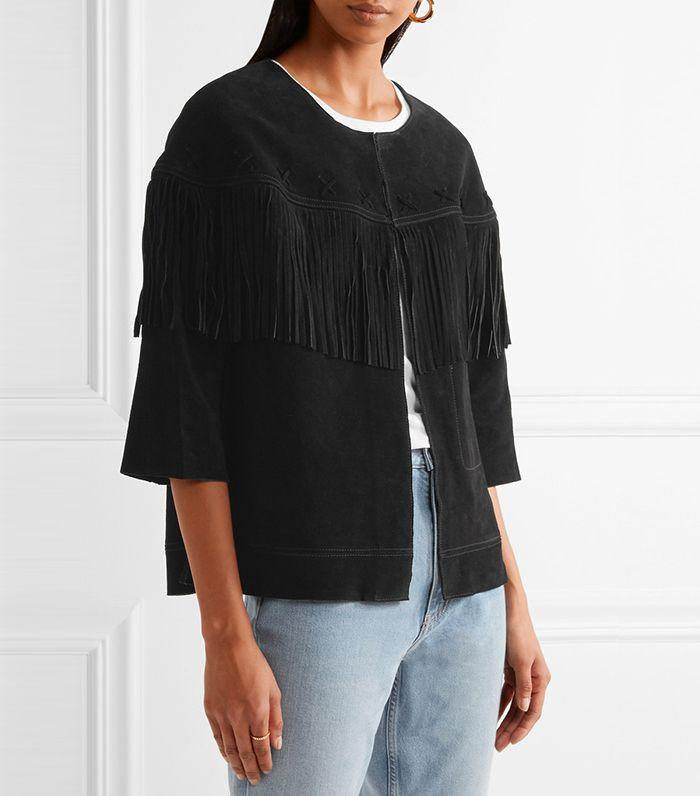 Suede fringe adds great texture to your festival outfit.