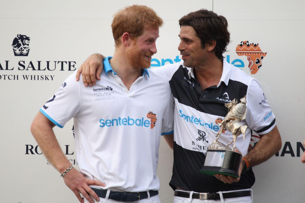 <p>Prince Harry during the prize presentation after the match. (Photo: Don Wong for Yahoo Singapore) </p>