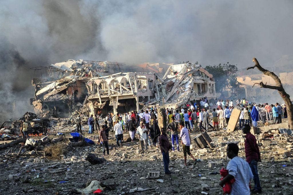 <p>Officials said that 160 of the dead bodies could not be identified because of the scale of the damage. They were buried by the Government, meaning some families might be left not ever knowing what happened to their loved one. (Getty) </p>