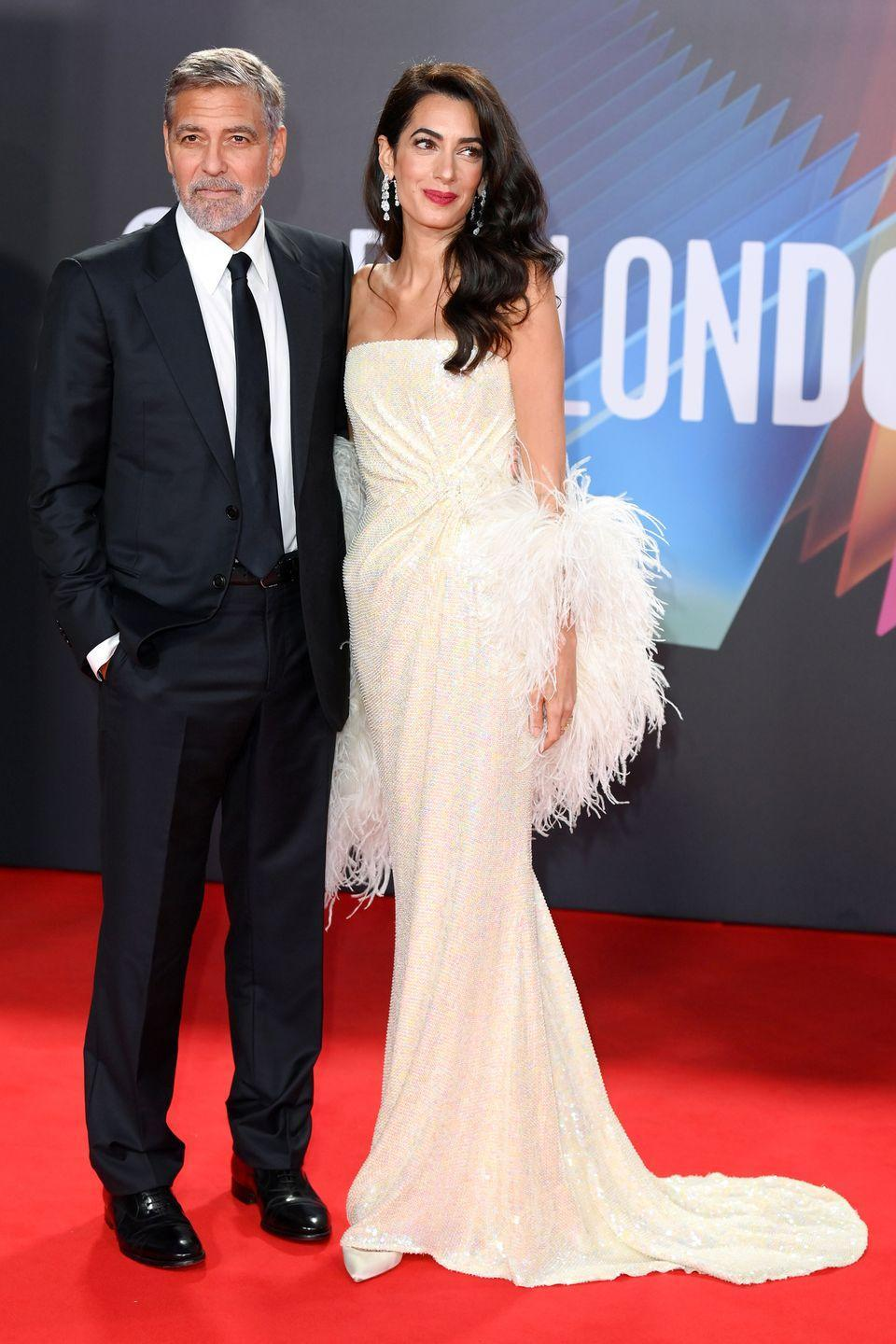 <p><strong>10 October</strong></p><p> George Clooney and Amal Clooney, who dressed in custom 16Arlington, walked the red carpet for The Tender Bar premiere.<br></p>