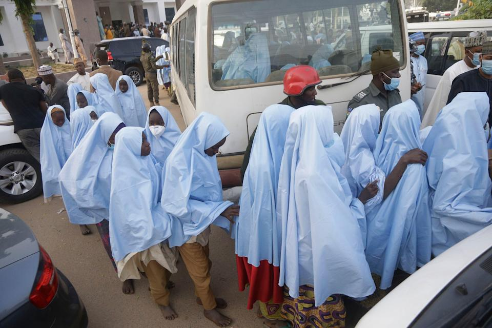 <p>The return comes after thousands of people in the country and abroad took to social media to beg for their release of the students.</p> (AP)