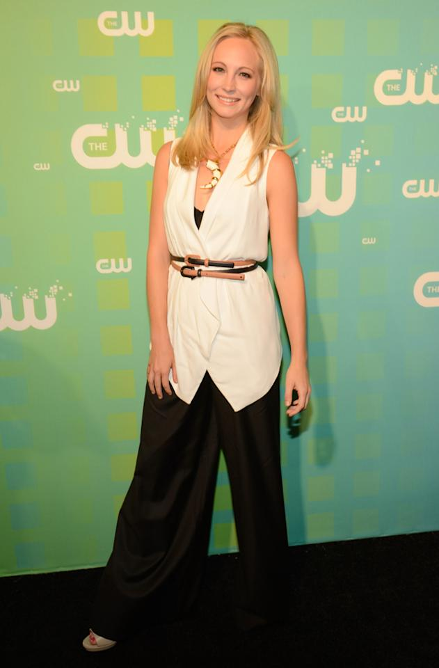 "Candice Accola (""The Vampire Diaries"") attends The CW's 2012 Upfronts on May 17, 2012 in New York City."