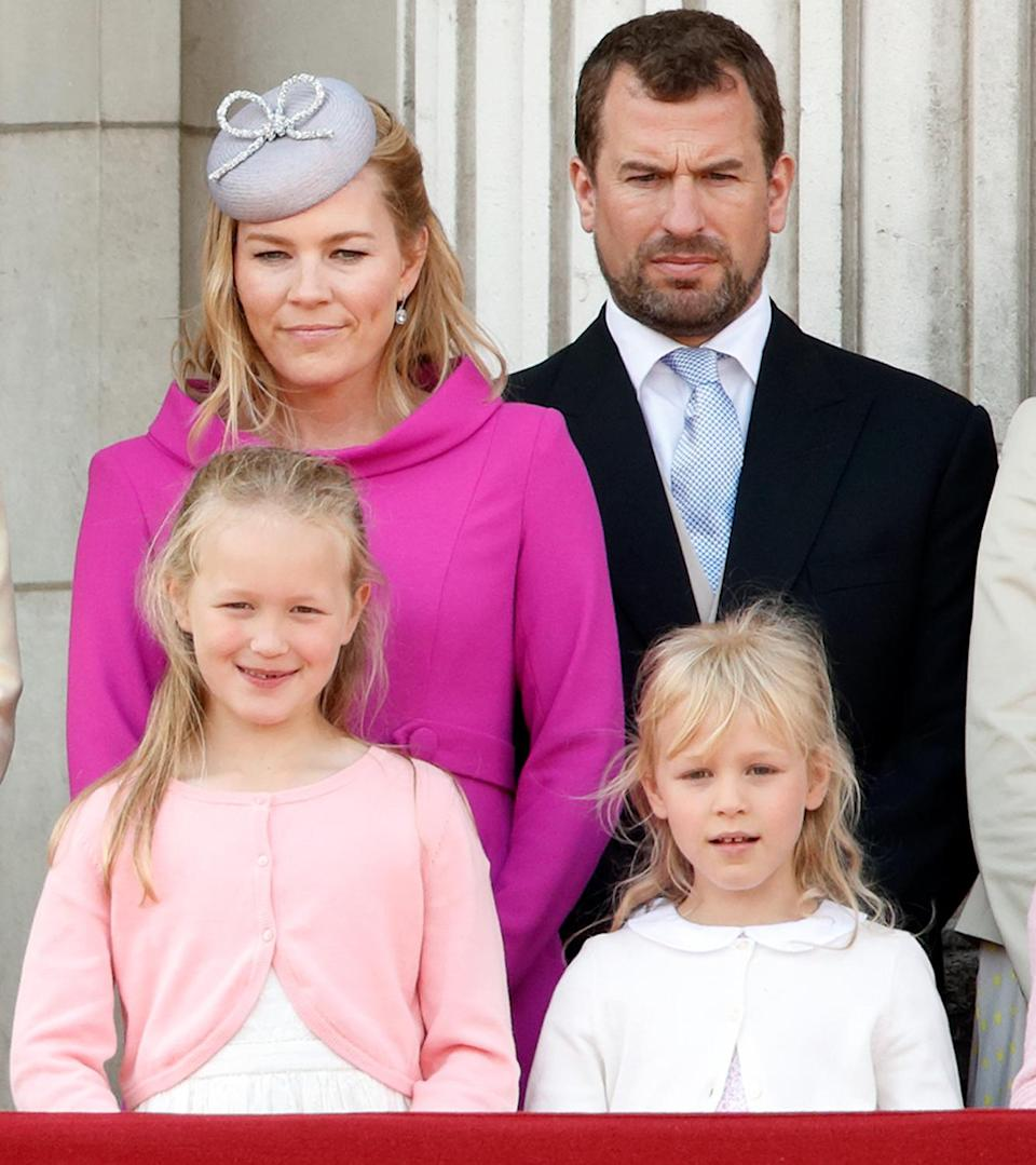 """<p>Peter and Autumn Phillips have two daughters who share a close bond with their cousins — Savannah has even been spotted <a href=""""https://people.com/royals/savannah-phillips-covering-prince-george-mouth-gif/"""" rel=""""nofollow noopener"""" target=""""_blank"""" data-ylk=""""slk:shushing Prince George"""" class=""""link rapid-noclick-resp"""">shushing Prince George</a> despite his status as future monarch!</p>"""