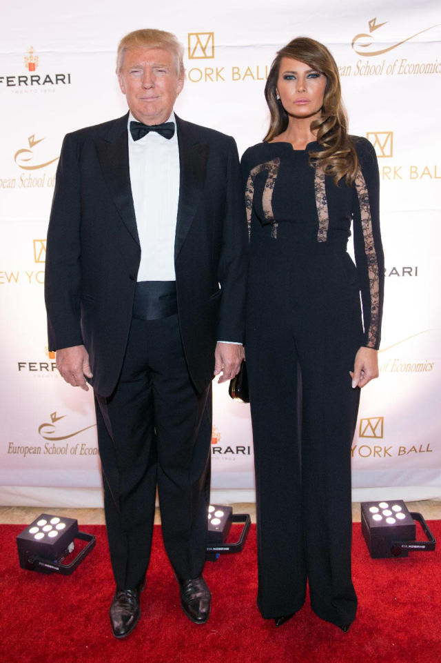 <p>Donald and Melania Trump attend the 20th anniversary European School of Economics benefit at Trump Tower, on Nov. 19, 2014, New York. <i>(Photo: Scott Roth/Invision/AP)</i> </p>