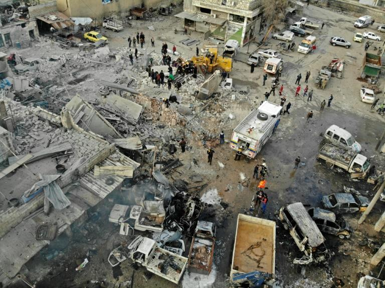 Wednesday's air strikes on the provincial capital, which killed 19 civilians, made a mockery of the truce for Idlib announced by Russia
