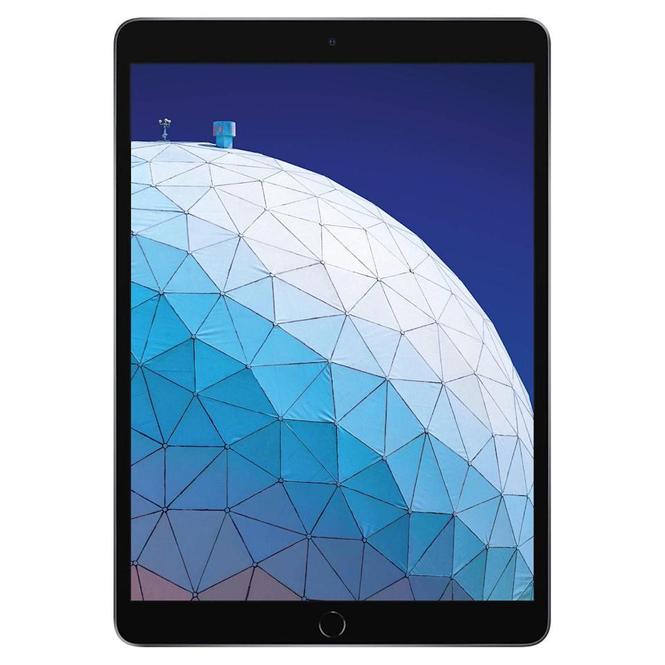 """<p><strong>Apple</strong></p><p>walmart.com</p><p><strong>$469.00</strong></p><p><a href=""""https://go.redirectingat.com?id=74968X1596630&url=https%3A%2F%2Fwww.walmart.com%2Fip%2F571506761&sref=https%3A%2F%2Fwww.bestproducts.com%2Ftech%2Fgadgets%2Fg261%2Fbest-tablets-on-the-market%2F"""" rel=""""nofollow noopener"""" target=""""_blank"""" data-ylk=""""slk:Shop Now"""" class=""""link rapid-noclick-resp"""">Shop Now</a></p><p>A year after its debut, the iPad Air is still the best full-size tablet worth your attention. Available in silver, gold, and space gray, it has class-leading processing power and graphics, a gorgeous 10.5-inch Retina display, a timelessly elegant design, exceptional craftsmanship, a fantastic ecosystem of <a href=""""//www.bestproducts.com/tech/gadgets/g2710/cool-ipad-and-ipad-pro-accessories/"""" data-ylk=""""slk:accessories"""" class=""""link rapid-noclick-resp"""">accessories</a>, and a reasonable price. According to an expert from <a href=""""https://www.theverge.com/2019/3/27/18282956/apple-ipad-air-2019-review-ios-features-specs-price"""" rel=""""nofollow noopener"""" target=""""_blank"""" data-ylk=""""slk:The Verge"""" class=""""link rapid-noclick-resp"""">The Verge</a>, the device is """"the best all-around choice for most people.""""</p><p>Crucially, thanks to Apple's iOS operating system, the iPad Air comes with the best selection of tablet-friendly apps and games in the business — giving it a massive advantage over rivals that utilize other mobile platforms. </p><p>Unlike its predecessor, the latest iPad Air is also compatible with the superb <a href=""""https://www.amazon.com/dp/B016NY7784?tag=syn-yahoo-20&ascsubtag=%5Bartid%7C2089.g.261%5Bsrc%7Cyahoo-us"""" rel=""""nofollow noopener"""" target=""""_blank"""" data-ylk=""""slk:Apple Pencil"""" class=""""link rapid-noclick-resp"""">Apple Pencil</a>. The latter is handily among the best accessories of its kind, making the tablet an incredibly capable tool for productive and creative tasks. </p><p><strong>More: </strong><a href=""""//www.bestproducts.com/tech/gadgets/a27603651/apple-ipad-buying-guide/"""""""
