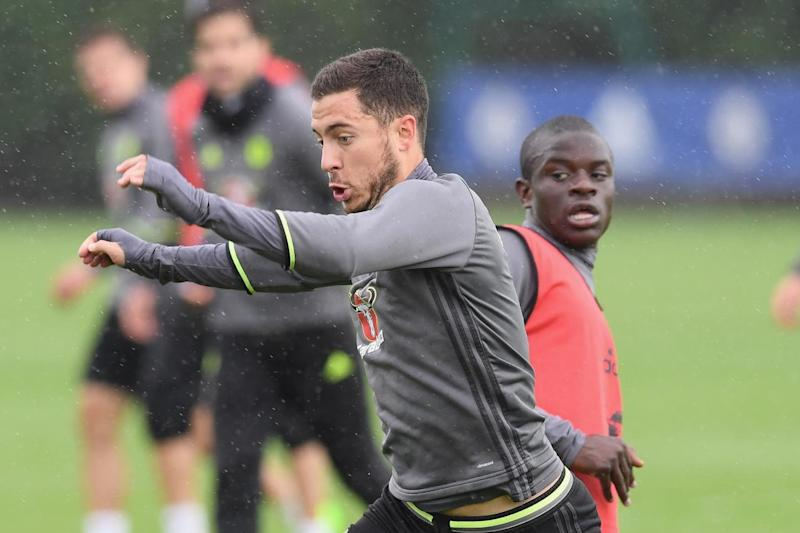 Hazard has a lot of love for Kante: Chelsea FC via Getty Images