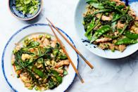 """We often make this dish with chicken, but fried rice is one of our favorite ways to eat leftover turkey and whatever vegetables are lurking in the fridge. <a href=""""https://www.epicurious.com/recipes/food/views/easy-fried-rice-with-chicken-and-broccolini?mbid=synd_yahoo_rss"""" rel=""""nofollow noopener"""" target=""""_blank"""" data-ylk=""""slk:See recipe."""" class=""""link rapid-noclick-resp"""">See recipe.</a>"""