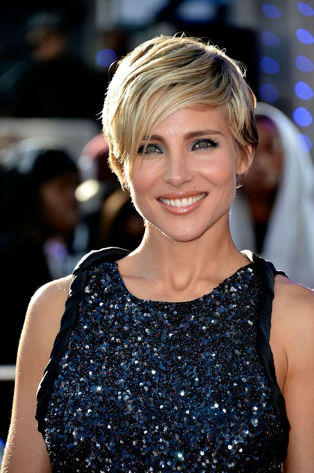 "<p>""Fast & Furious 6 actress"" (and <b>Chris Hemsworth's</b> leading lady) <b>Elsa Pataky's </b>piecey, side-swept pixie looks sexy yet effortless.</p>"