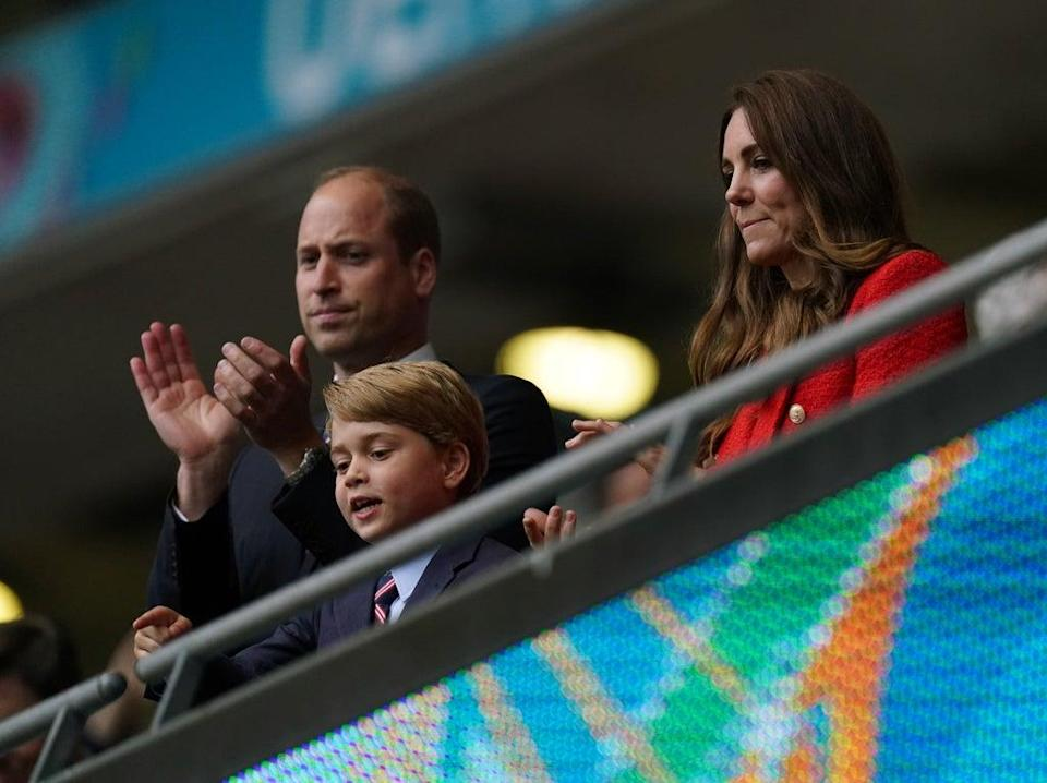 The Duke and Duchess of Cambridge with son Prince George (Mike Egerton/PA) (PA Wire)