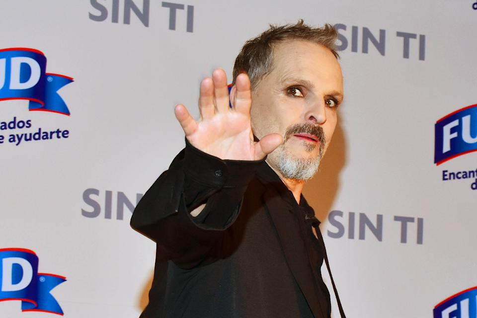 Miguel Bose poses for photos  during a press conference to launch the short film ' Sin Ti ' at St. Regis Hotel on May 03, 2019 in Mexico City, Mexico (Photo by Carlos Tischler/NurPhoto via Getty Images)