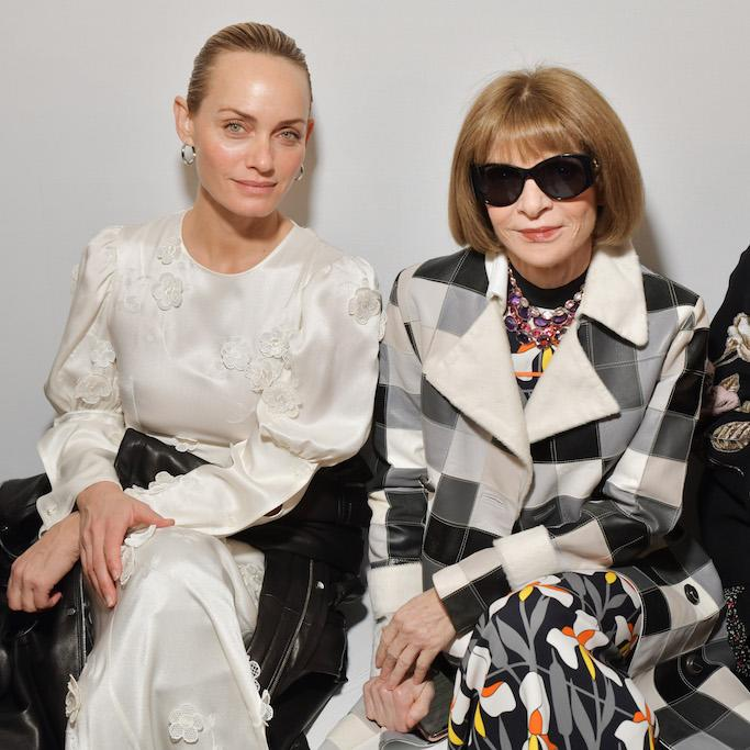 Amber Valletta and Anna Wintour in the front row Loewe show, Front Row, Fall Winter 2020, Paris Fashion Week, France - 28 Feb 2020