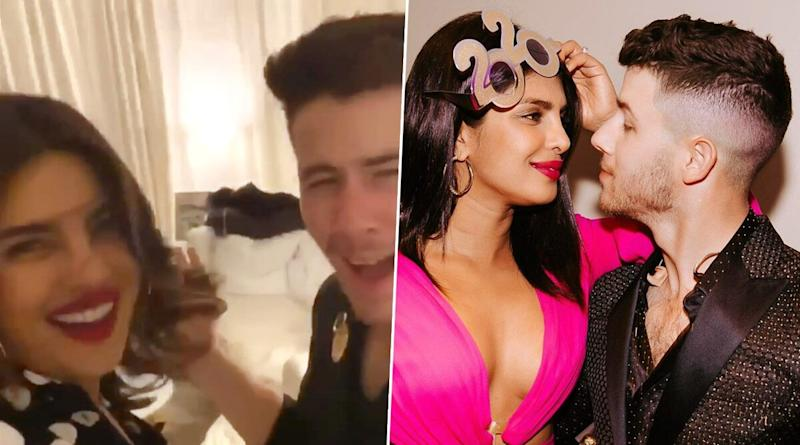 Nick Jonas Dances to 'Aankh Marey' and Priyanka Chopra Jonas Just Cannot Stop Cheering For Her Valentine (Watch Video)