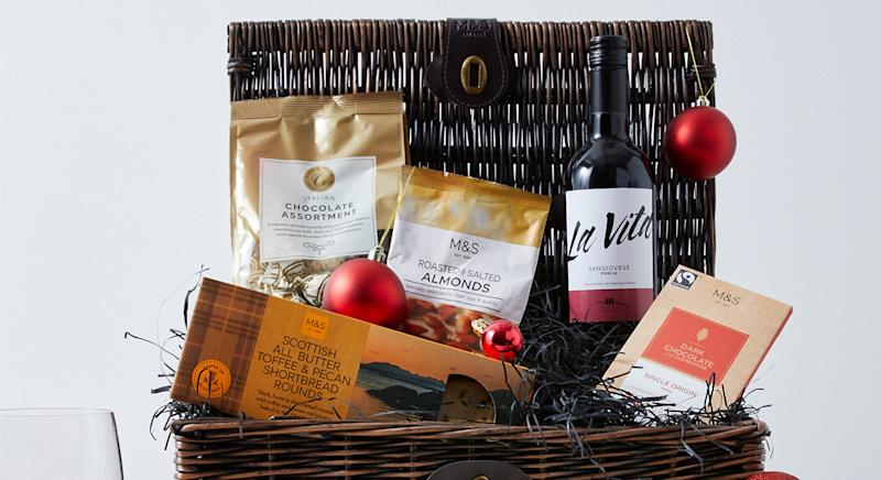 Scroll through to see the best luxury hampers under £100. [Photo: M&S]