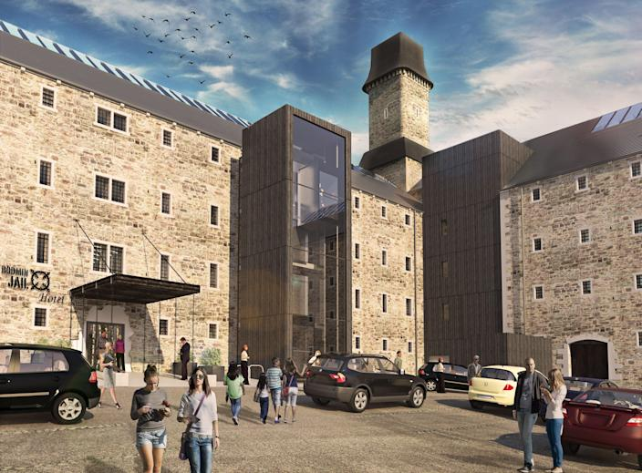 The former jail dates back to 1779Bodmin Jail Hotel