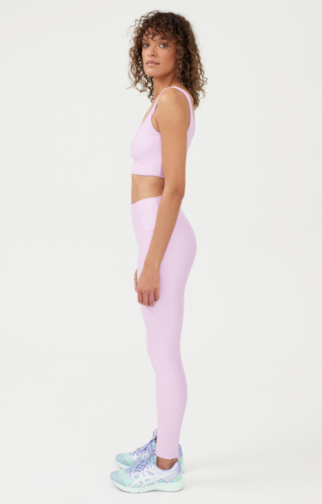 purple grand stand legging and sports bra from Photo: P.E Nation