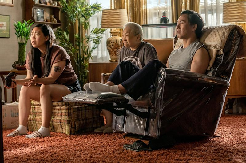 """Awkwafina , Lori Tan Chinn and BD Wong in a scene from """"Awkwafina Is Nora from Queens."""""""