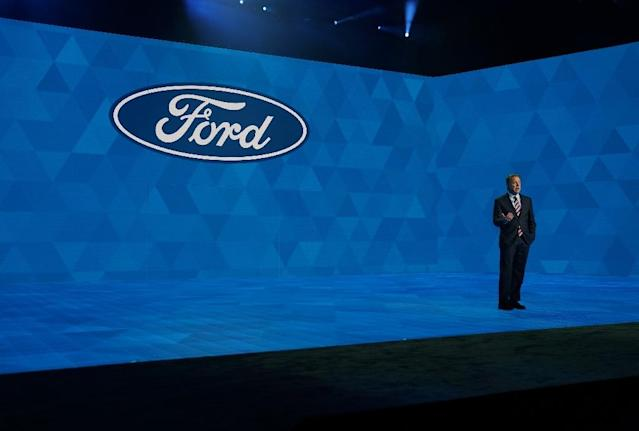 Ford CEO Jim Hackett said the company's restructuring efforts will boost profitability (AFP Photo/TIMOTHY A. CLARY)