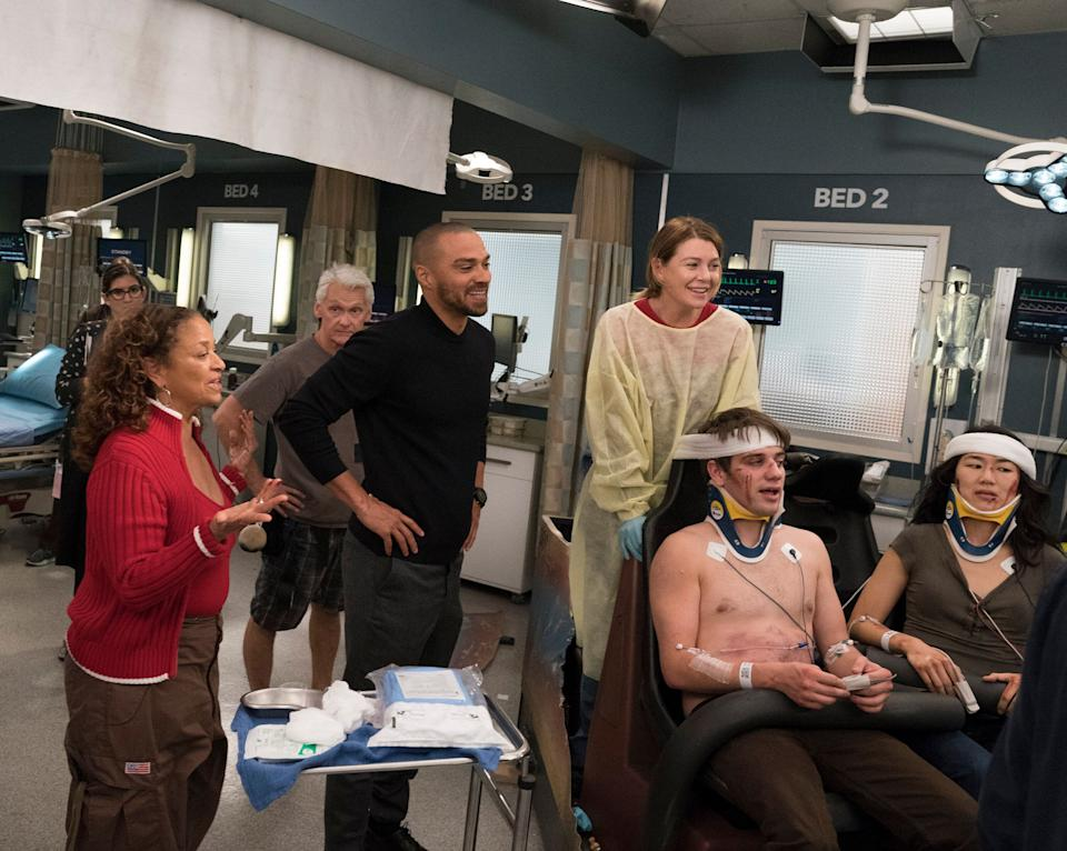 """Allen directing an episode of """"Grey's Anatomy."""" (Photo: Mitch Haaseth via Getty Images)"""