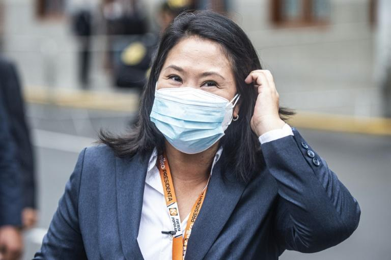 Peruvian presidential candidate Keiko Fujimori (pictured June 21, 2021), who is charged with corruption in an unrelated scandal, claims the election was riddled with fraud