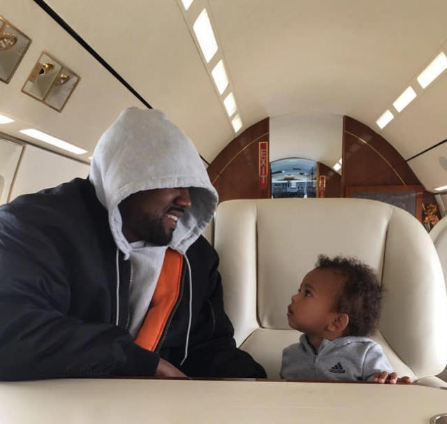 """<p>Kim Kardashian posted this cute Father's Day snap of hubby Kanye West with their son, Saint, who has unsurprisingly flown on a private plane before the ripe old age of 2. (Photo: <a href=""""https://www.instagram.com/p/BVfffaIF6Tf/"""" rel=""""nofollow noopener"""" target=""""_blank"""" data-ylk=""""slk:Kim Kardashian via Instagram"""" class=""""link rapid-noclick-resp"""">Kim Kardashian via Instagram</a>) </p>"""