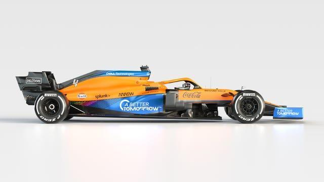The new McLaren MCL35M Mercedes