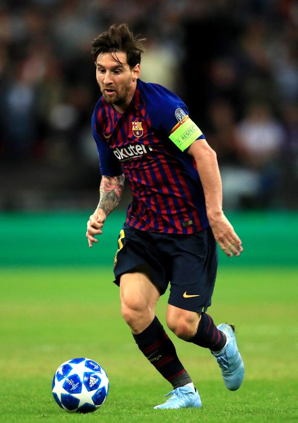 Former Barcelona star Lionel Messi is set to face Manchester City for PSG (Mike Egerton/PA) (PA Wire)