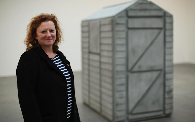 Rachel Whiteread poses next to 'Detached' in 2013 - Getty Images Europe
