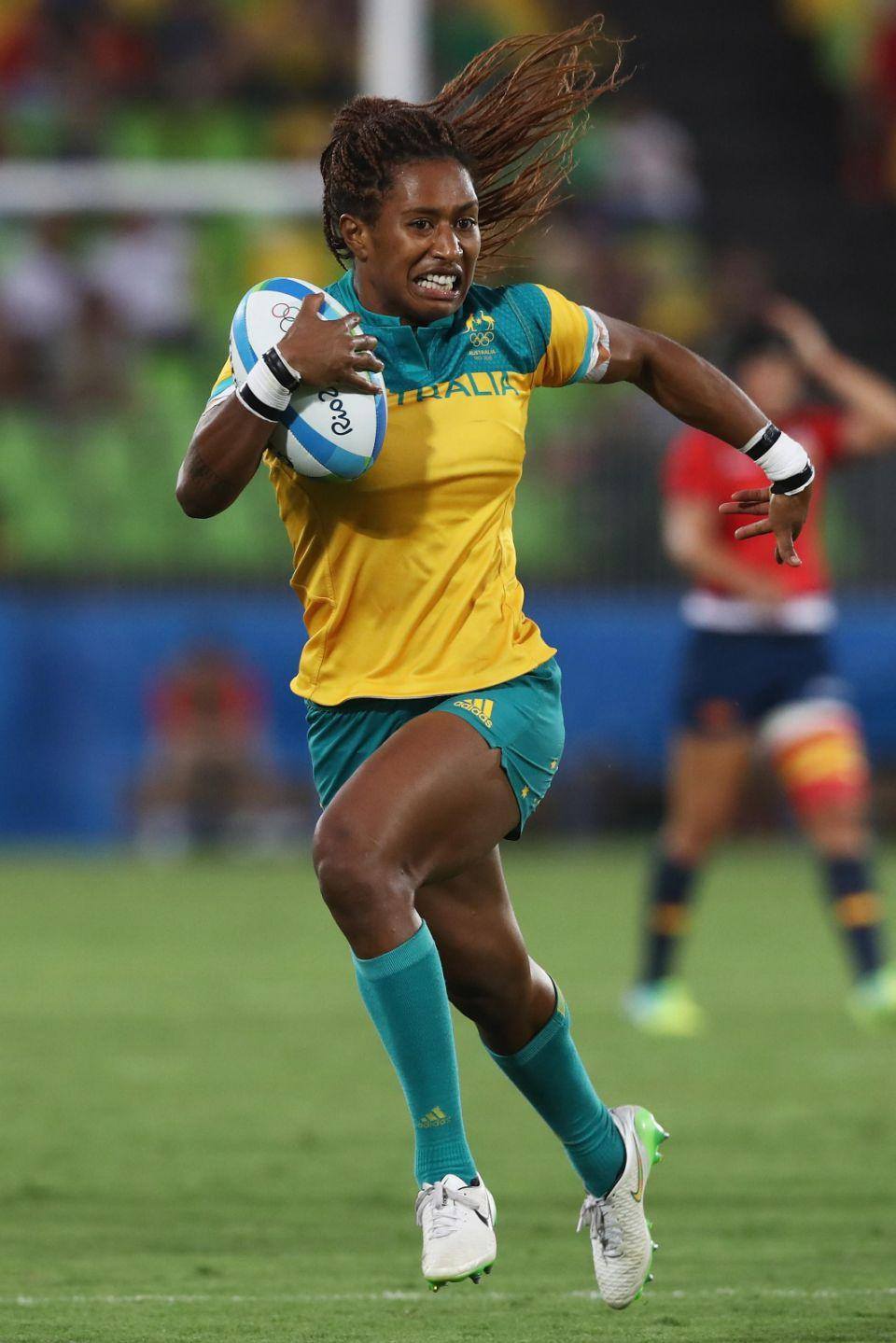 Former sprinter turned rugby star Ellia is now gearing up for the Commonwealth Games. Photo: Getty