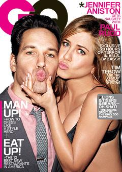 Jennifer Aniston Wears Sexy Black Bra, Reveals Taut Abs on GQ Cover