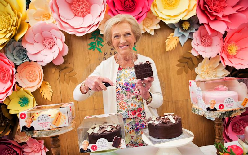 Mary Berry launches her very first range of supermarket cakes in conjunction with Finsbury Foods.  - David Rose