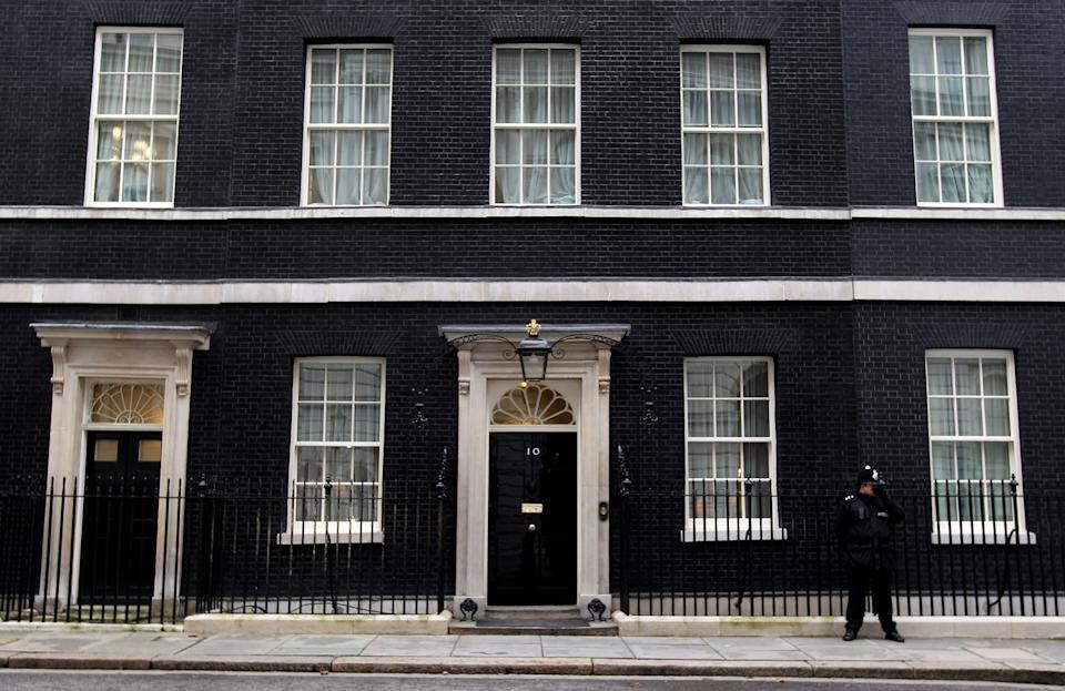 LONDON, ENGLAND - FEBRUARY 23:  A general view of number 10 Downing Street on February 23, 2010 in London, England. As the UK gears up for one of the most hotly contested general elections in recent history it is expected that that the economy, immigration, the NHS and education are likely to form the basis of many of the debates.  (Photo by Dan Kitwood/Getty Images)